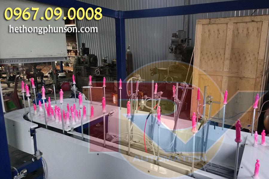 Công suất sản xuất máy phun sơn tự động