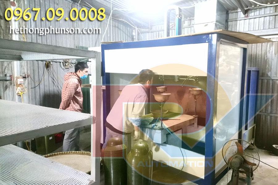 Thời gian sản xuất máy phun sơn tự động